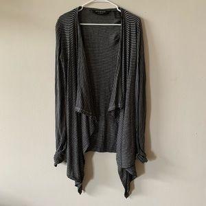 Norma Kamali black and gray open cardigan